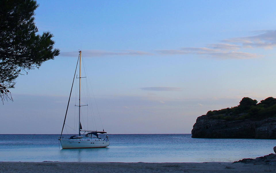 Turqueta cove at sunset